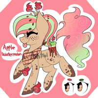 Draw-To-Adopt - Apple Watermelon Pony CLOSED by Ashtrol