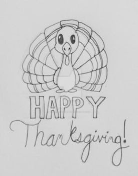 Happy Thanksgiving! by doodledragon1500