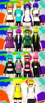 [MMD] Squid Kids [No more DL] by SadaoKen