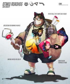 Otaku Roadhog Skin Concept by MonoriRogue