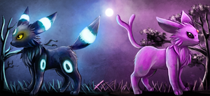 Umbreon and Espeon