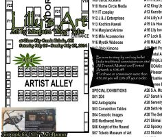 Lilly's Art- Table Location at Glass City Con 2014 by lilly-peacecraft