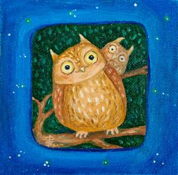 Two little owls by Netopir