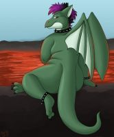 Esmerelda by the Lava by PudgeyRedFox