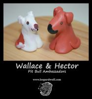 Wallace And Hector - Pit Bull Ambassadors by leopardwolf