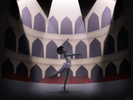 [OC] Blank - My lonely ballet (speedpaint) by YunemaDraw