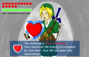 Link and his heart container by Kiki-ishtar
