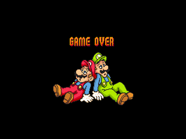 Super Mario Bros Odyssey - Game Over Screen by smbmaster99