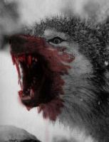 vicious wolf by ravenous-squirrel
