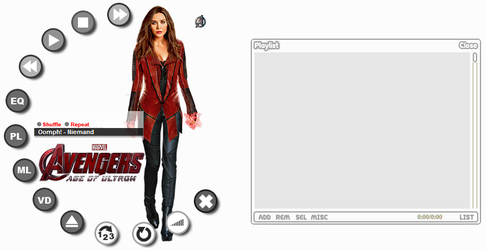Avengers: Scarlet Witch (Winamp Skin) (Updated) by frozenbloodX