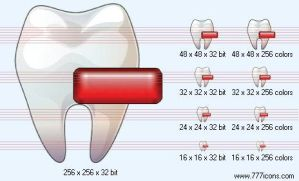 Delete tooth Icon by medical-icon-set