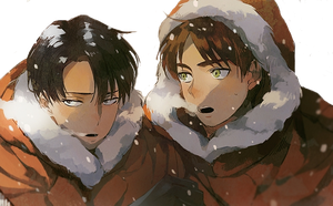 Attack on Titan Erin and Levi Render by 2cq