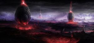 The flaring lands by BlueRogueVyse