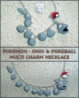 Pokemon - Onix Charm Necklace