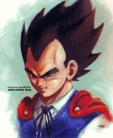 Vegeta Vampire by Mark-Clark-II
