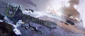 Dark Angels Bombardment by JakeMurray