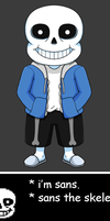Sans the skeleton (Animated) by JoTheWeirdo