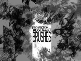 Pen and ink_abstract brushes by sanpaiya