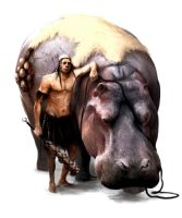 Head Hunter and his Hippo by SirenD
