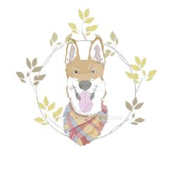 Foxy Dog Watercolor (Digital painting) by ivory-dog