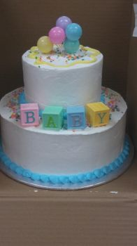 Baby shower cake by AuraLeighDragon