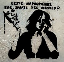 R U Happy without the masks? by taftar