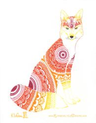 Mandala Fox by Dreamspirit
