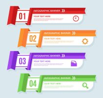 3 Color Business Infographic Banner Vectorn by FreeIconsdownload