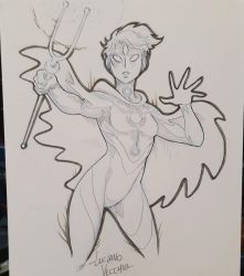 Sirena commission sketch at Argentina Comic Con by LucianoVecchio