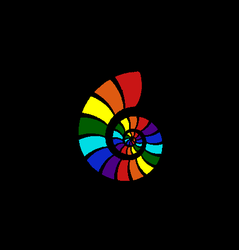 Golden Ratio in Rainbow Colors by t1m9m