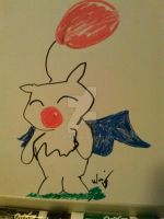 A Whiteboard, Kupo by Le-Smittee