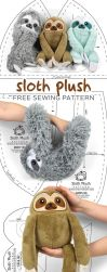 Sloth Plush Sewing Pattern by SewDesuNe
