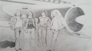 Led Zeppelin - pencil by AndrewS1829