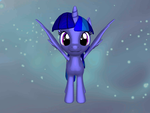 Twilight Star Alicorn 3D by pokemon-fireevee