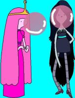 Princess Bubblegum and Marceline Gum by mrentertainment