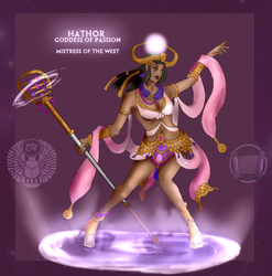 Smite Concept - Hathor, Goddess of Passion Recolor by Kaiology