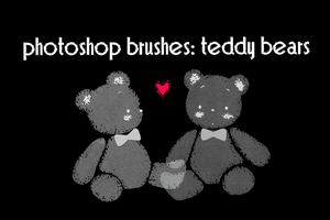 photoshop brushes: teddy bear by gutterlily10