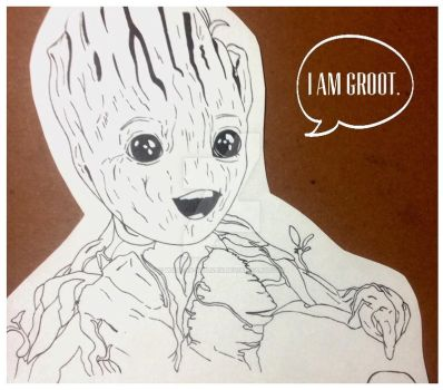 Baby Groot by Wild-As-Wolves