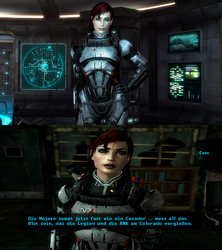 Fallout New Vegas - FemShep Race by lsquall