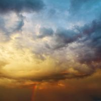 Dramatic Clouds Vomiting Rainbow by JanKacar