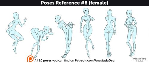 Poses Reference #8 (female) by Anastasia-berry