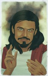 The Christ Self-Portrait by thecarlosmal