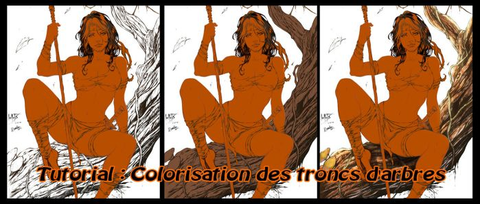 Tutorial : Colorisation des troncs d'arbres by diabolumberto