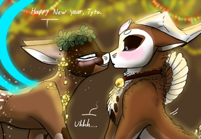 New Year Traditions (EVOLOONS) by CoffeeAddictedDragon
