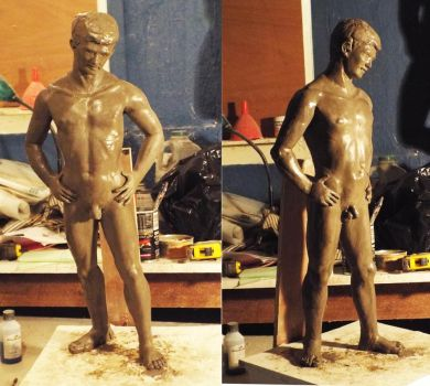 CLAY MODEL.   Busy casting. by Mikedga