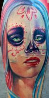 Day of the dead girl 2 by sass-tattoo