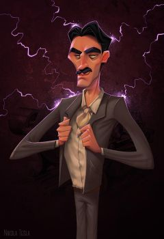Nikola Tesla by NickNP
