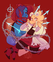 underfell alphyne by dongoverlord