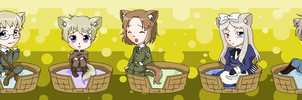 Hetalia Kitties 4 by pinkkittypower