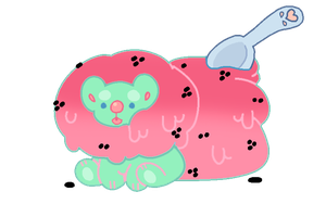 Watermelon Yummibear Adoptable - CLOSED by Pvggy